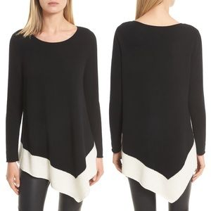 Joie Cashmere Wool Color Block Pullover Sweater